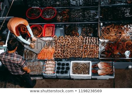 Ruw zeevruchten groothandel markt Seoul Zuid-Korea Stockfoto © galitskaya