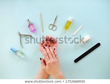 Gewas vrouw manicure onherkenbaar vrouwelijke Stockfoto © dashapetrenko