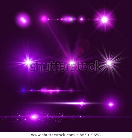 星 バースト 紫色 透明な 晴れた グロー ストックフォト © evgeny89