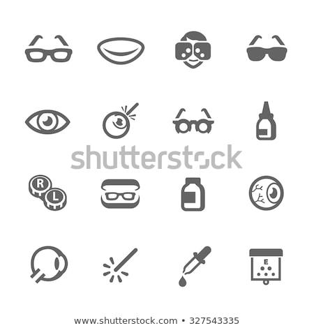 Lente de contato coleção vetor dedo líquido Foto stock © pikepicture