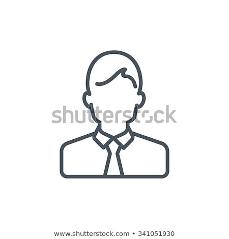 representative help line icon vector outline illustration Stock photo © pikepicture