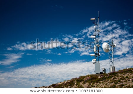 Equipment of meteorological station with sky and clouds Stock photo © simazoran