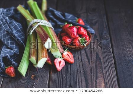 Zdrowych witamina rabarbar lata pić mięty Zdjęcia stock © furmanphoto