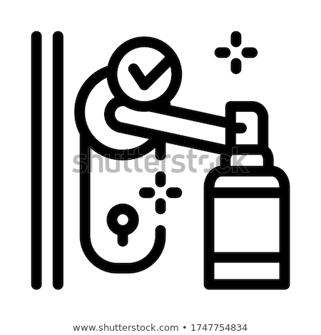 keyhole disinfection icon vector outline illustration Stock photo © pikepicture