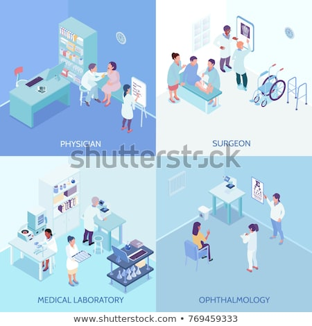 Pediatrics Medical Isometric Icons Set Vector Stock photo © pikepicture