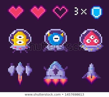 Gemi ufo ayarlamak seçmek kahraman piksel Stok fotoğraf © robuart