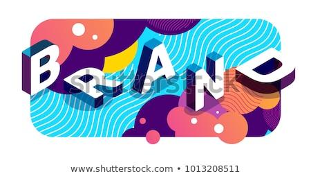 Marca nome abstract agenzia identità Foto d'archivio © RAStudio