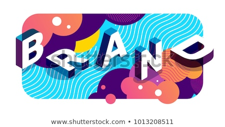 Brand name abstract concept vector illustration. Stock photo © RAStudio