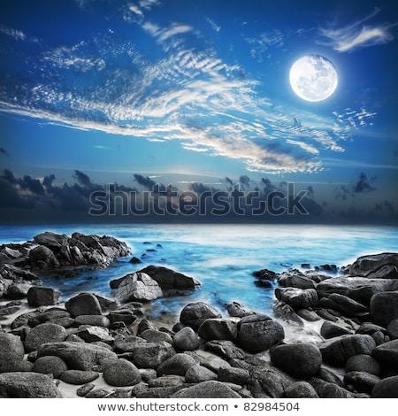 Lua cheia tropical longa exposição tiro céu noite Foto stock © moses