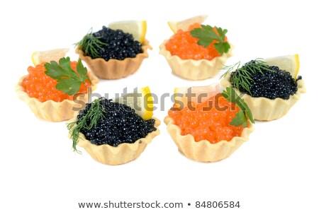 Caviar noir faible panier isolé blanche Photo stock © konturvid