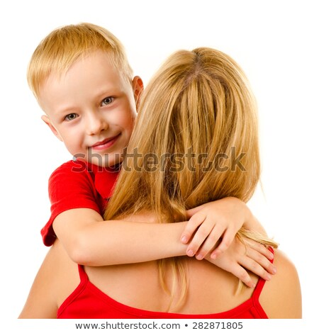 son embraces mother from back stock photo © paha_l