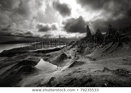 Moody skies over dramatic landscape in Scottish Highlands stock photo © mtilghma