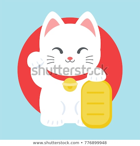 chanceux · chat · japonais · orange · amusement · or - photo stock © sahua