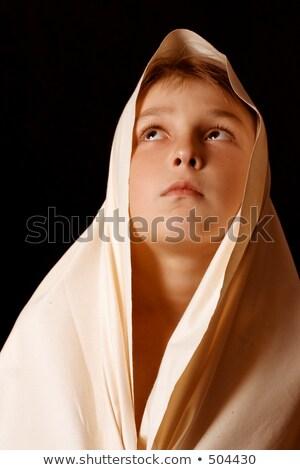 Behold - child looking heavenward Stock photo © lovleah