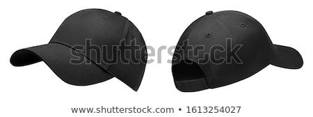 Fekete baseballsapka divat baseball kalap textil Stock fotó © mayboro