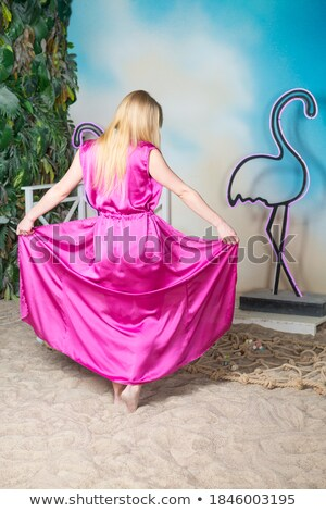 Mulher praia robe menina sensual Foto stock © photography33