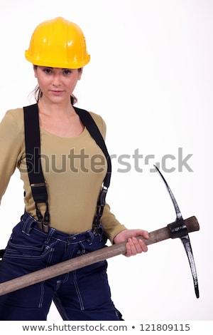 craftswoman digging with a pick Stock photo © photography33