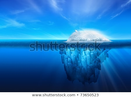 topo · icebergue · flutuante · oceano · 3d · render · mar - foto stock © bobbigmac