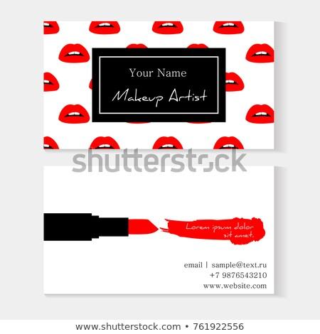Szépségszalon smink végtelen minta Stock fotó © Zebra-Finch