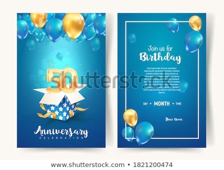 Cumpleanos celebración pastel de cumpleanos alguien edad 50 Foto stock © AlphaBaby
