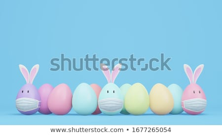 Easter egg coniglio Pasqua illustrazione giardino fiori Foto d'archivio © ajlber