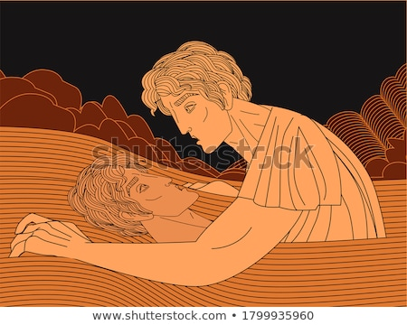 Illustration of narcissus Stock photo © perysty