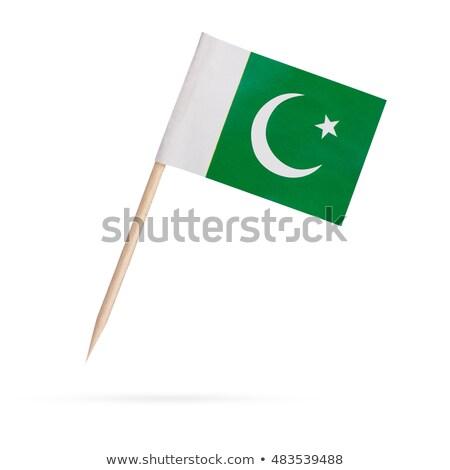 Miniatuur vlag Pakistan geïsoleerd vergadering Stockfoto © bosphorus