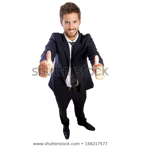 Stock photo: High-angle, full-length shot of a businessman