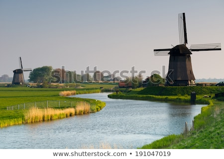 Watermill and  blue sky Stock photo © yoshiyayo