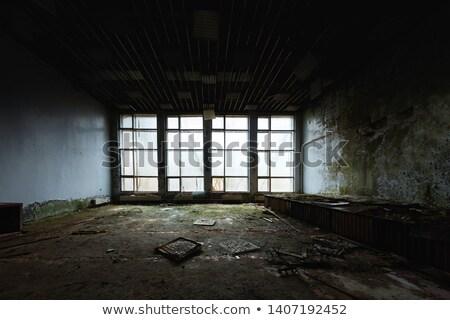 Abandonné chambre fenêtre paysages sur Photo stock © HectorSnchz