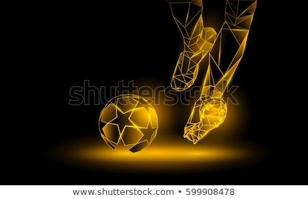 football design of man kicking soccer ball Stock photo © experimental