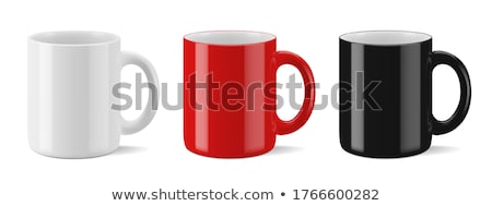 Kávé fehér porcelán csésze háttér kávézó Stock fotó © elly_l