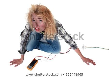Careless blond electrician Stock photo © photography33