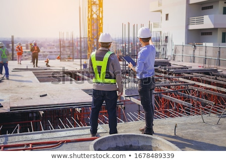architect and foreman discussing plans stock photo © photography33