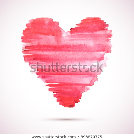 Painterly Red Hearts Stock photo © StephanieFrey