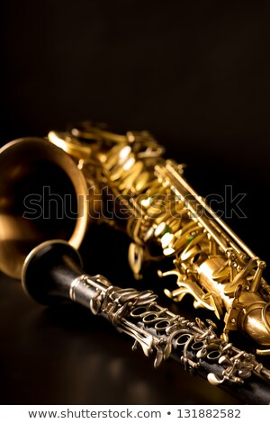 классический музыку саксофон саксофон черный фон Сток-фото © lunamarina
