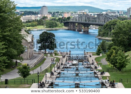 Kanal Ottawa Kanada unesco dünya miras Stok fotoğraf © bigjohn36