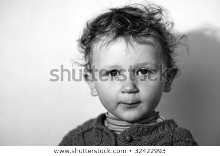 Assuming airs little boy Stock photo © velkol