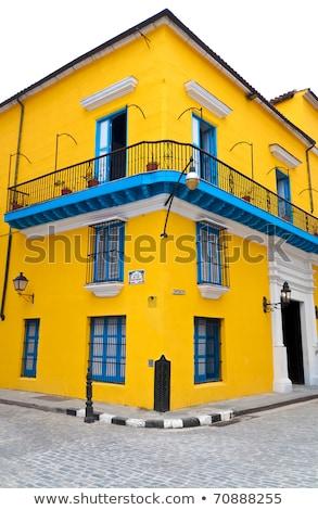 blanche · colonial · façade · bâtiments · rouge · historique - photo stock © jkraft5