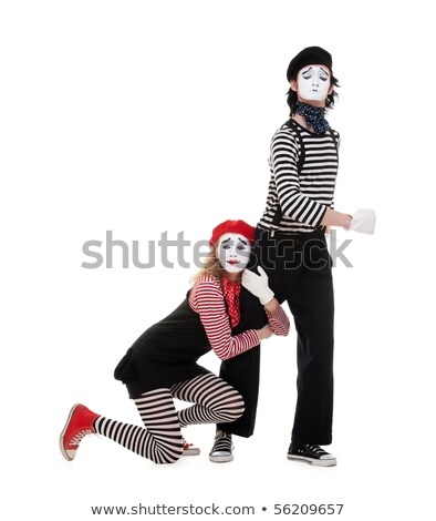 two clowns are crying and sad Stock photo © Pasiphae