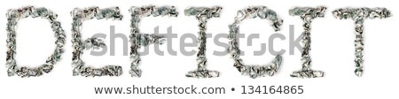 Deficit - Crimped 100$ Bills Stock photo © eldadcarin