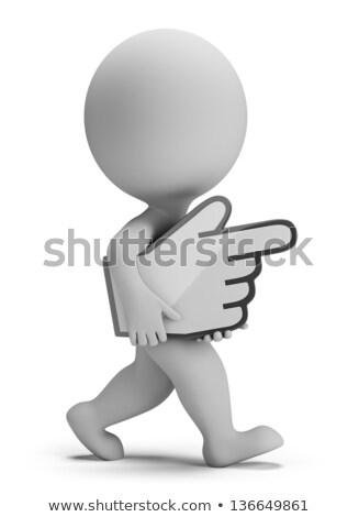 3D pequeno pessoas mão cursor pessoa Foto stock © AnatolyM