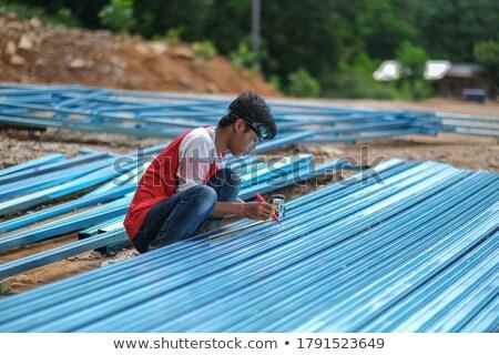 男 トラス 家 建物 木材 ストックフォト © photography33