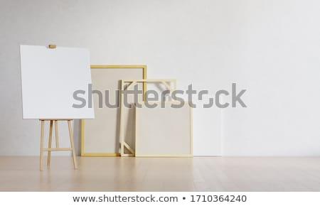 sztaluga · malarstwo · płótnie · kopia · przestrzeń · w · górę - zdjęcia stock © shawlinmohd