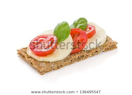 Crispbread With Tomato And Mozzarella Photo stock © Zerbor