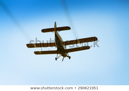 Old crop dusting helicopter Stock photo © pixachi