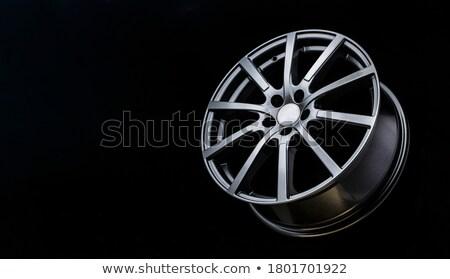 Stock photo: chrome rim detail