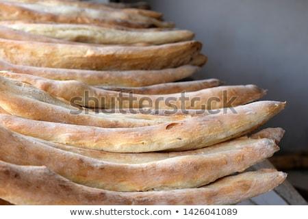 Falu öreg tornyok hegyek textúra fa Stock fotó © vadimmmus