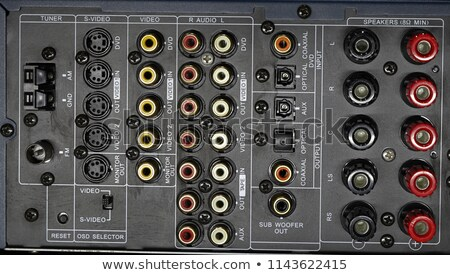 speaker connection panel stock photo © foka