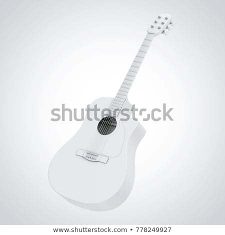 isolated 3d guitarist Stock photo © Kirill_M